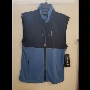 Mens size Medium Hi tech Vest. Black and Blue